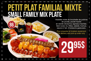 Small Family Mix Plate Offer at $29.95